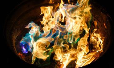 Fire in a barrel example of heat transfer